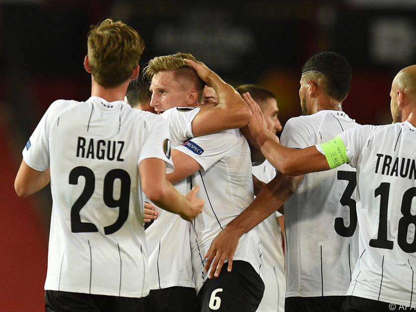 Der LASK bejubelte zumindest einen Treffer im Old Trafford