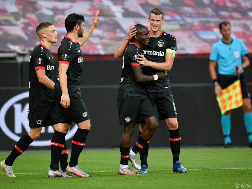 Leverkusen jubelt über den Einzug ins Viertelfinale