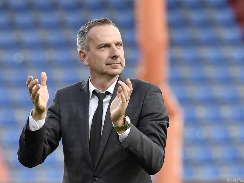 LASK-Trainer Dominik Thalhammer will mit seiner Truppe überraschen