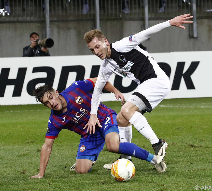 Die Wolfsberger boten gegen CSKA Moskau eine anständige Leistung
