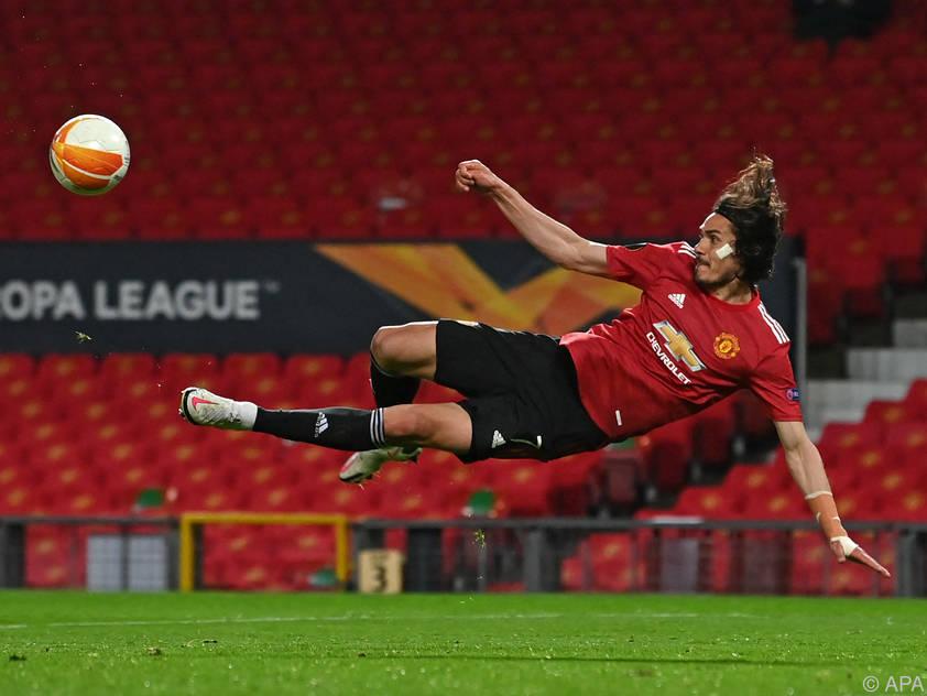 Edinson Cavani glänzte beim 6:2 Uniteds über Roma