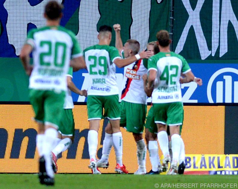 Rapid kann trotz Niederlage über den Aufstieg ins Playoff jubeln