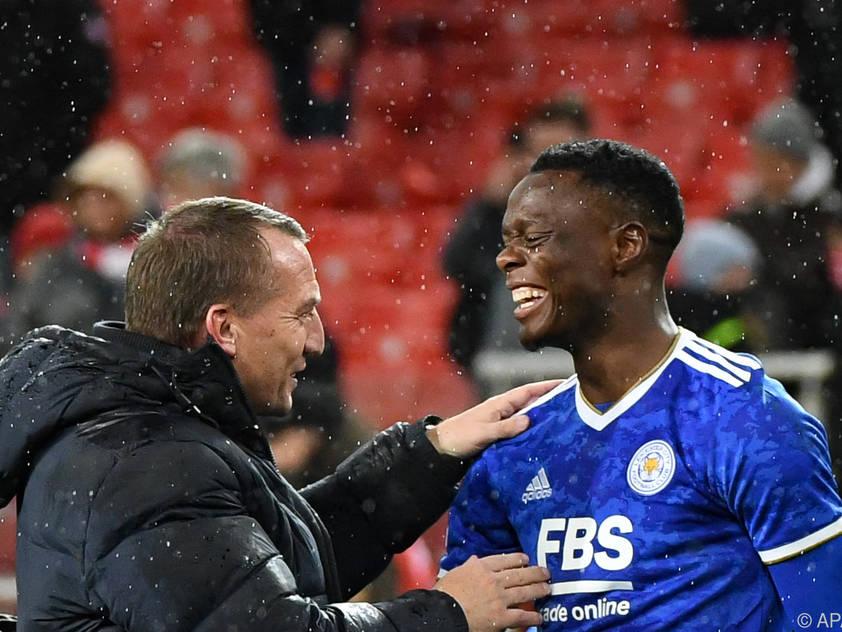Leicester-Trainer Rodgers und sein Matchwinner