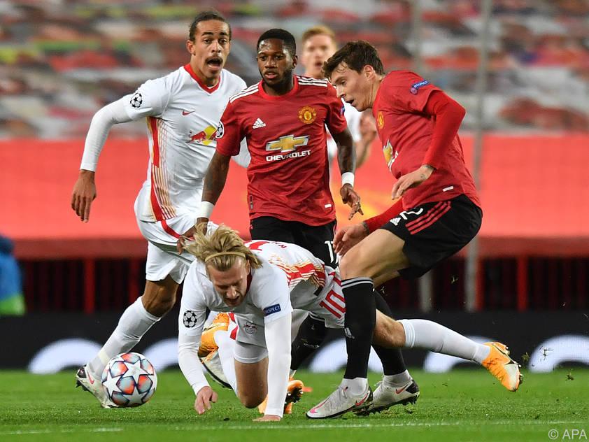 Gegen Manchester United kamen die Leipziger ordentlich unter die Räder