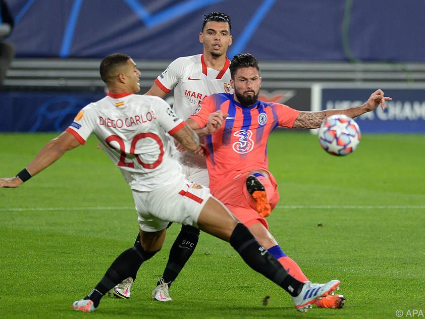 Olivier Giroud schlug gegen Sevilla gleich viermal zu