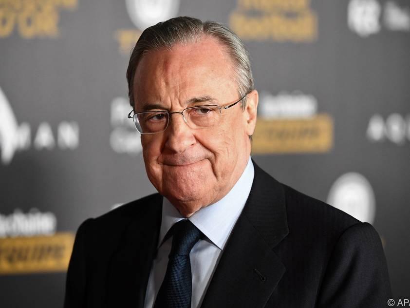 Real Madrid-Präsident Florentino Perez sieht die Super League-Pläne