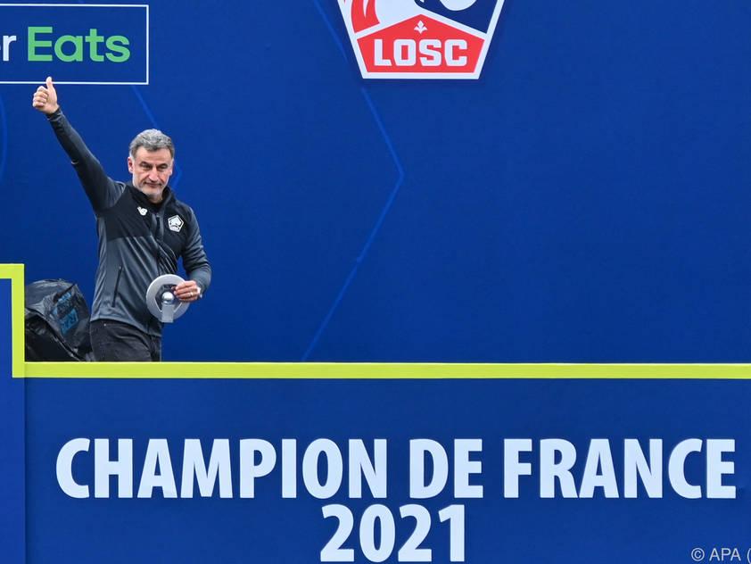 Ex-Coach Christophe Galtier führte Lille überraschend zum Meistertitel