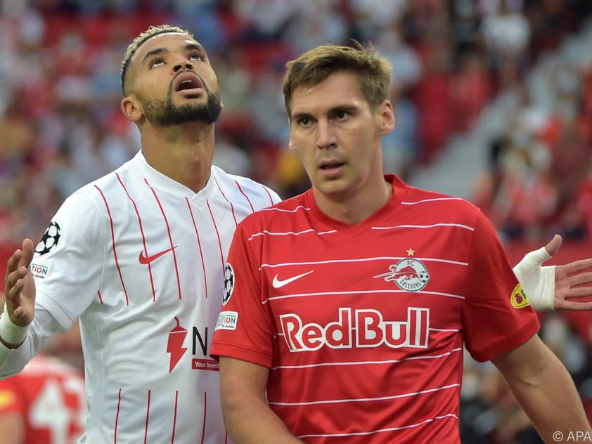 Salzburg-Verteidiger Wöber (hier gegen Sevilla) ist weiterhin fraglich