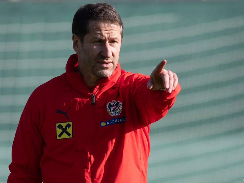 Teamchef Franco Foda peilt einen Sieg an