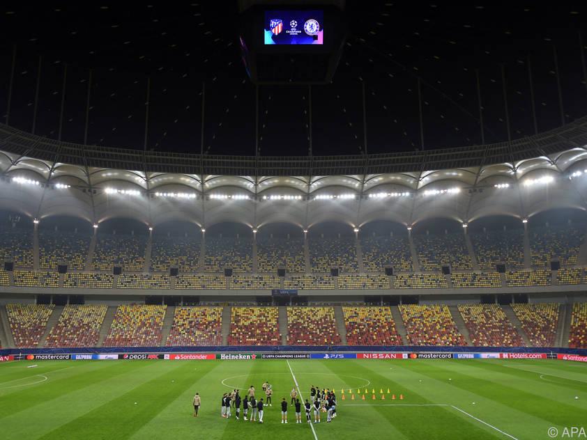 Hier menschenleer, bei der EM wohl teilweise gefüllt: Die Arena Națională von Bukarest