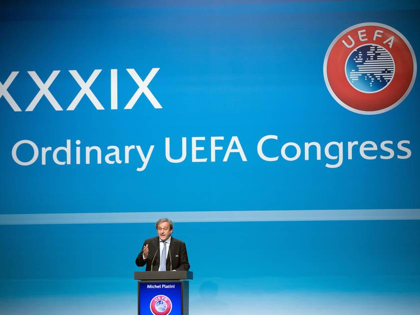 2015 sprach in Wien noch Michel Platini als UEFA-Präsident