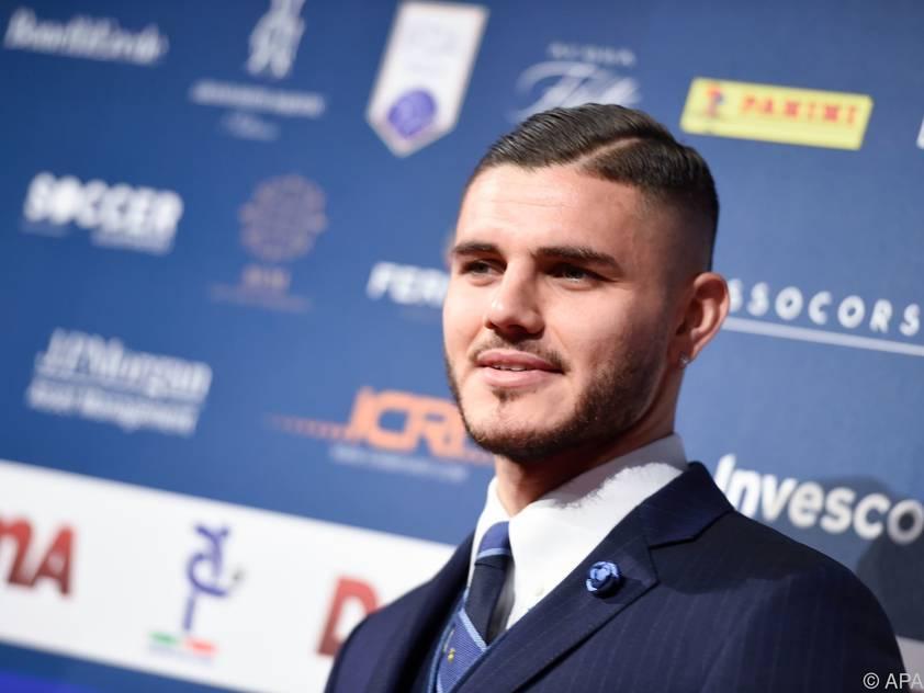 Argentinischer Goalgetter Mauro Icardi vor der Gala in Mailand