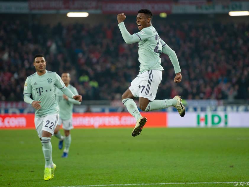David Alaba traf beim 4:0-Sieg Bayerns gegen Hannover