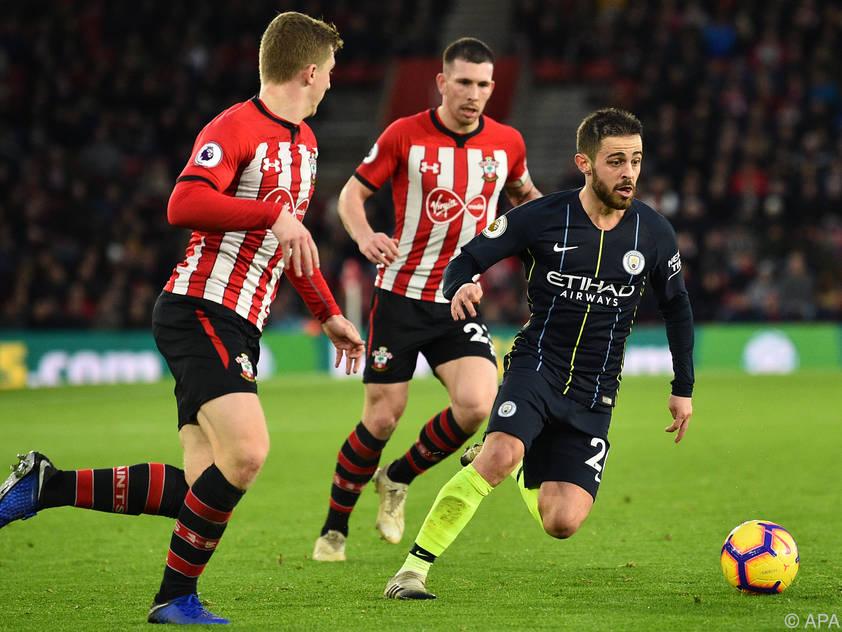 Southampton hatte die gegen die wendigen City-Spieler das Nachsehen