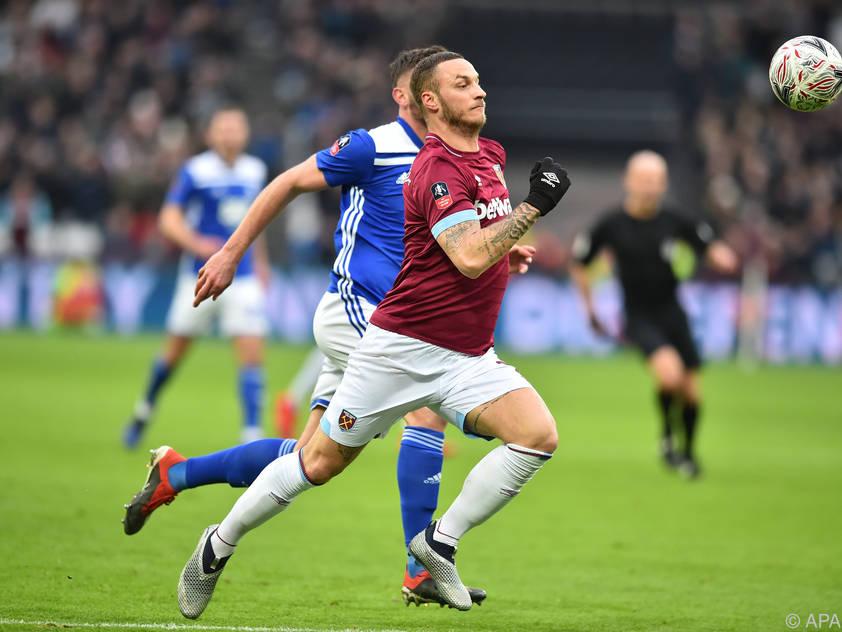 Um West-Ham-Stürmer Marko Arnautović rankten sich zuletzt Transfergerüchte