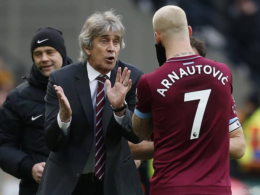 Manuel Pellegrini verucht, den alten Marko Arnautović herauszulocken