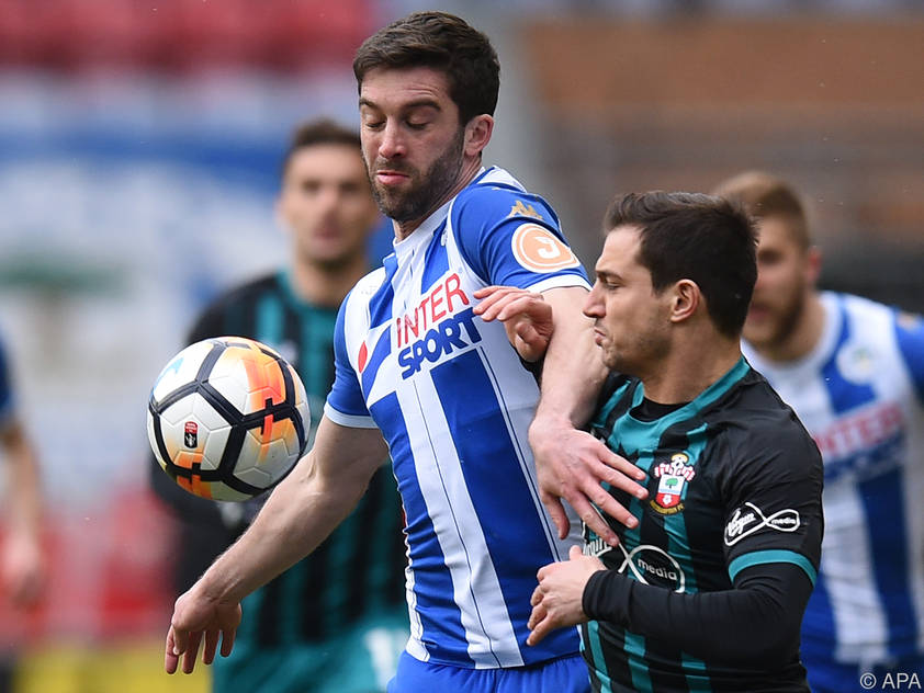 Will Grigg im Dress von Ex-Club Wigan