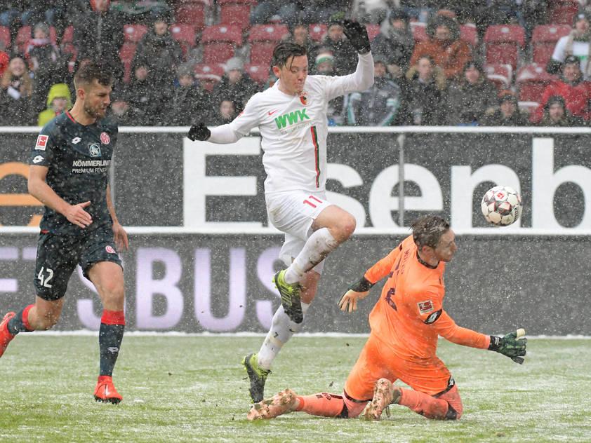 Augsburg siegte im Schneetreiben mit Gregoritsch 3:0