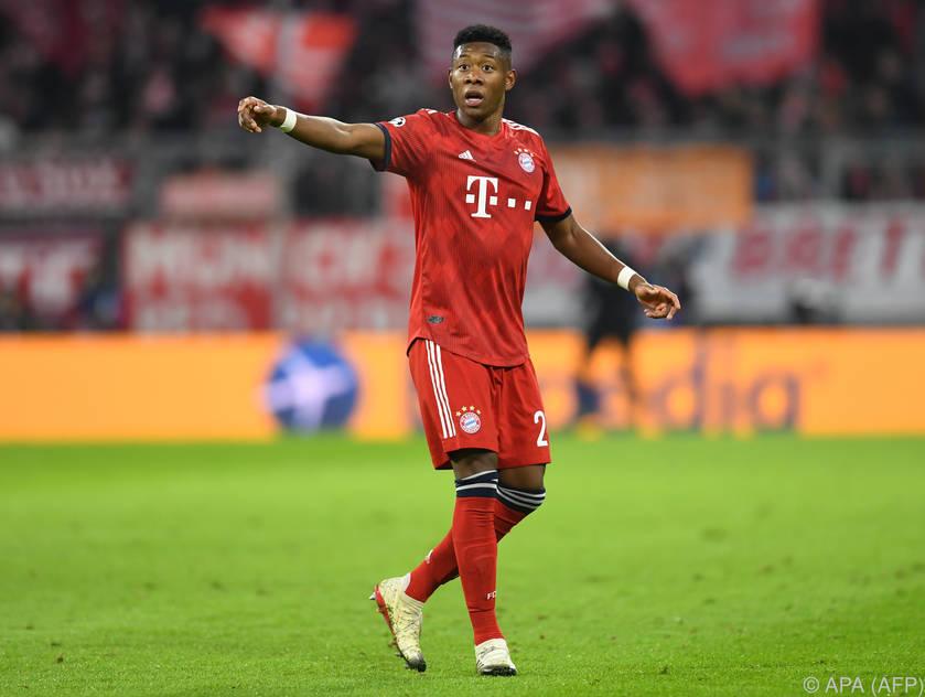 David Alaba dürfte den Bayern weiter fehlen
