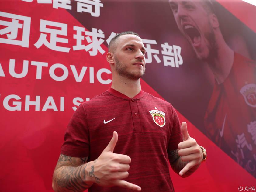 Marko Arnautović traf beim Debüt für Shanghai per Kopf
