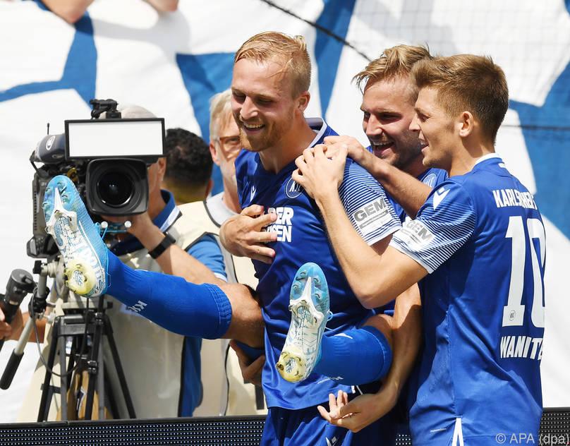 Karlsruhe feierte einen Heimsieg gegen Dresden