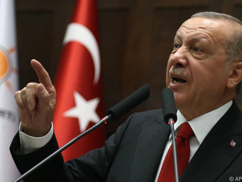 Der türkische Präsident Recep Tayyip Erdogan kritisiert die UEFA