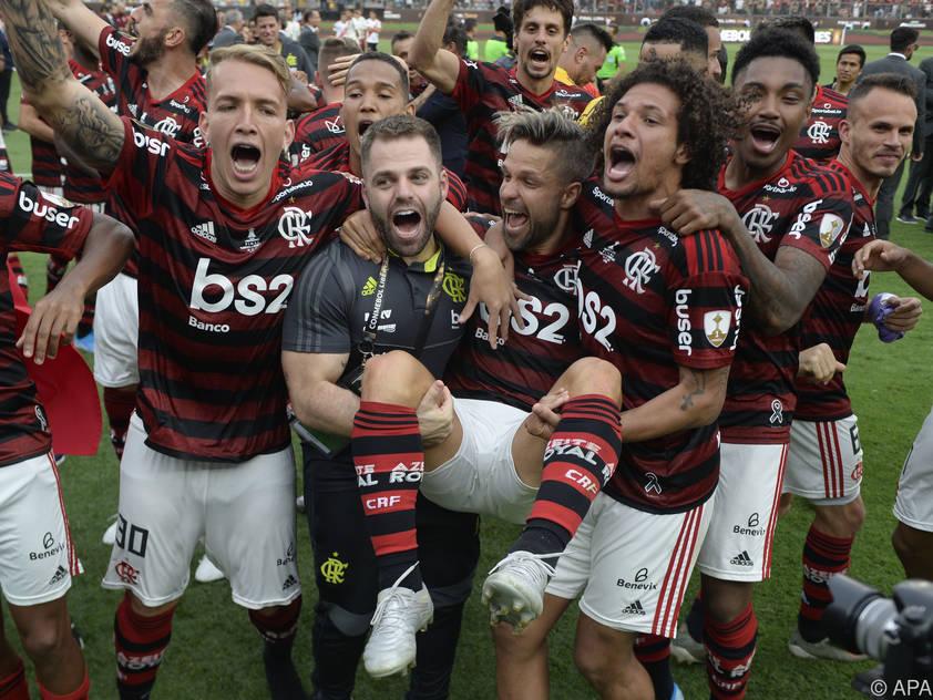 Die Flamengo-Spieler bejubeln ihren Copa-Triumph