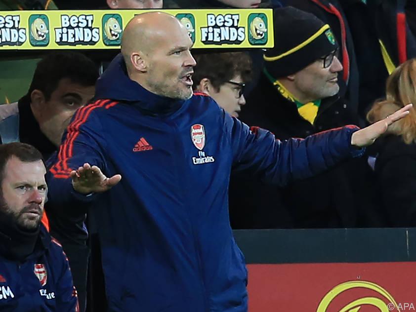 Kein Erfolgserlebnis für Arsenal-Interims-Coach Freddie Ljungberg