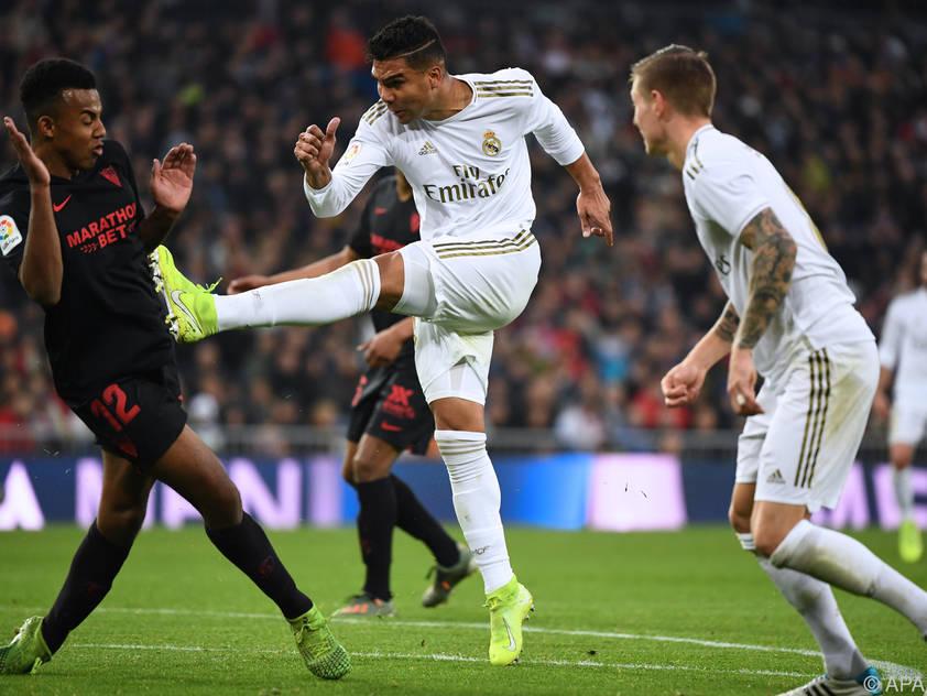 Casemiro schoss beim 2:1-Sieg Real Madrids gegen FC Sevilla beide Tore