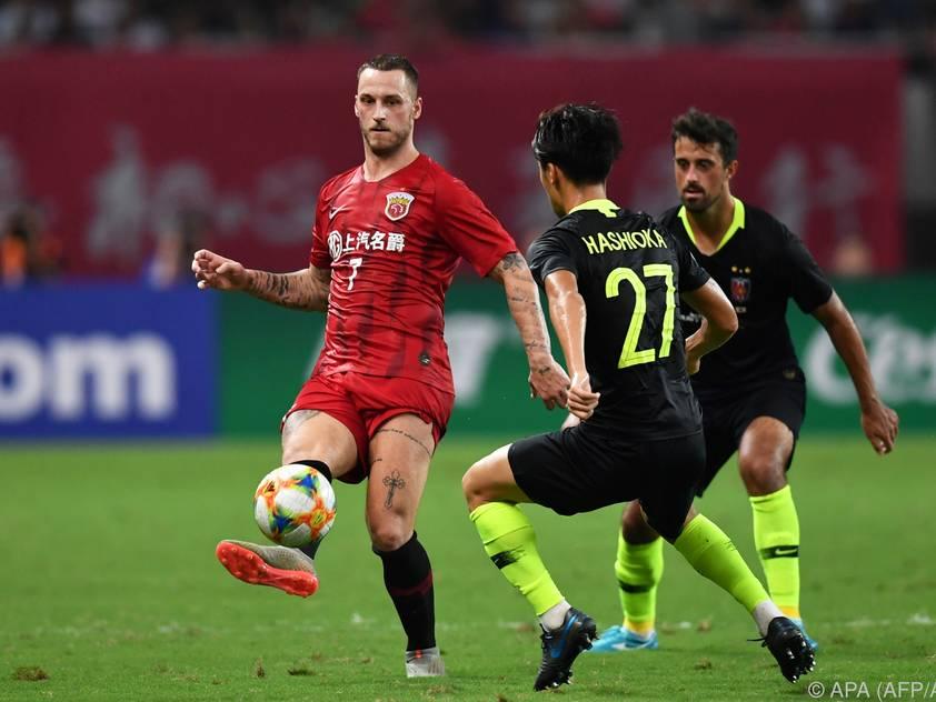 Arnautovic erzielte zwei Treffer gegen Hebei