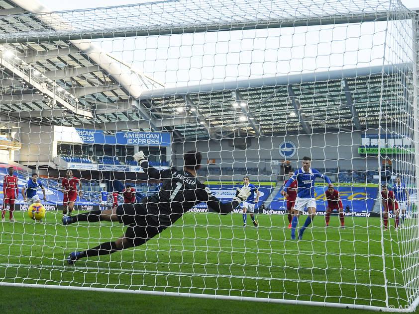 Brighton erzielte erst in der Nachspielzeit per Elfmeter den Ausgleich