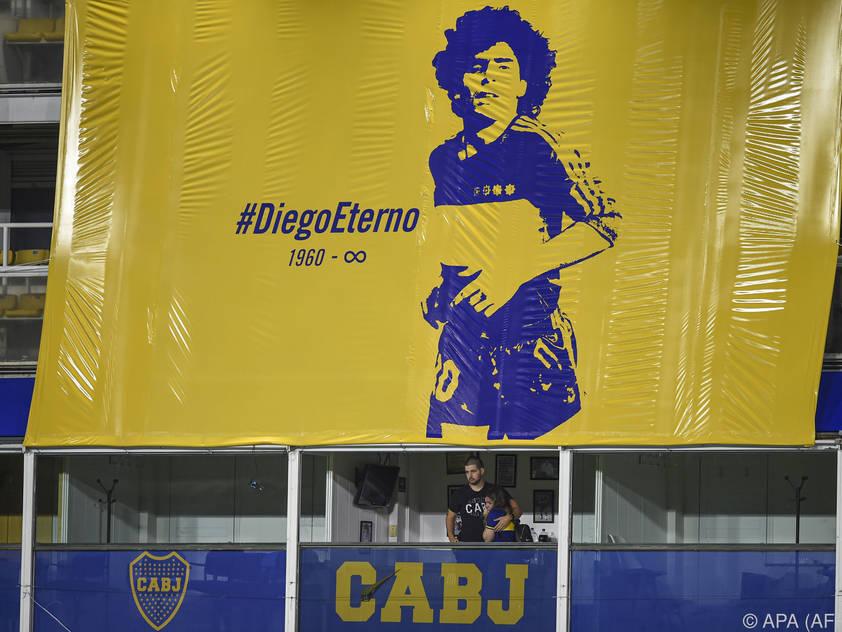 Für die Boca Juniors wird Diego Maradona ewig leben
