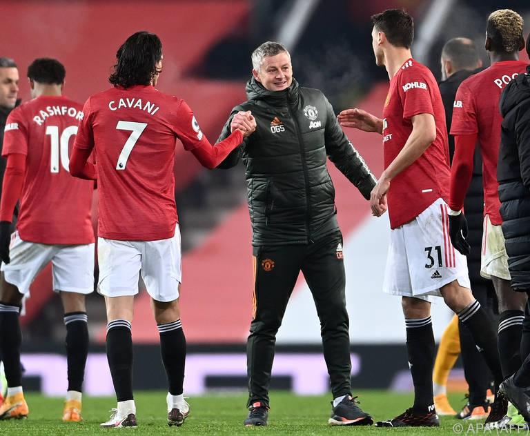 Für United-Trainer Solskjaer gibt es momentan Grund genug zur Freude