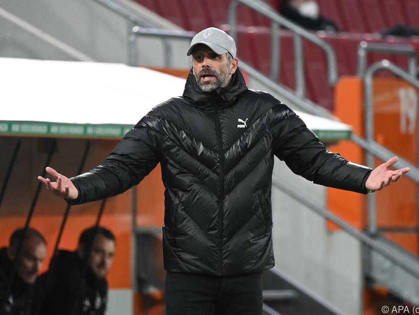 Gladbach-Coach Marco Rose wirkt ratlos