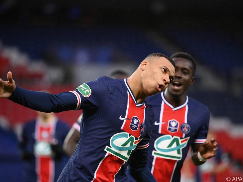 Traf doppelt im Cup: Weltmeister Kylian Mbappé