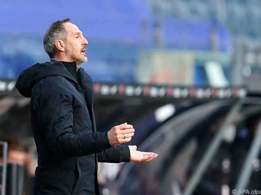 Hütter will Frankfurt in die Champions League führen