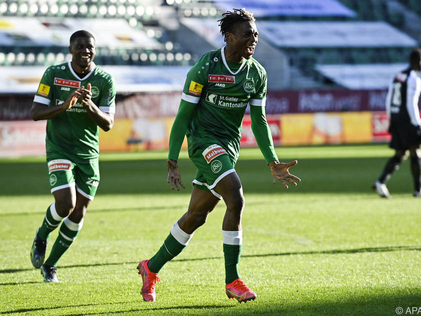 Junior Adamu überzeugte bei St. Gallens Cuperfolg