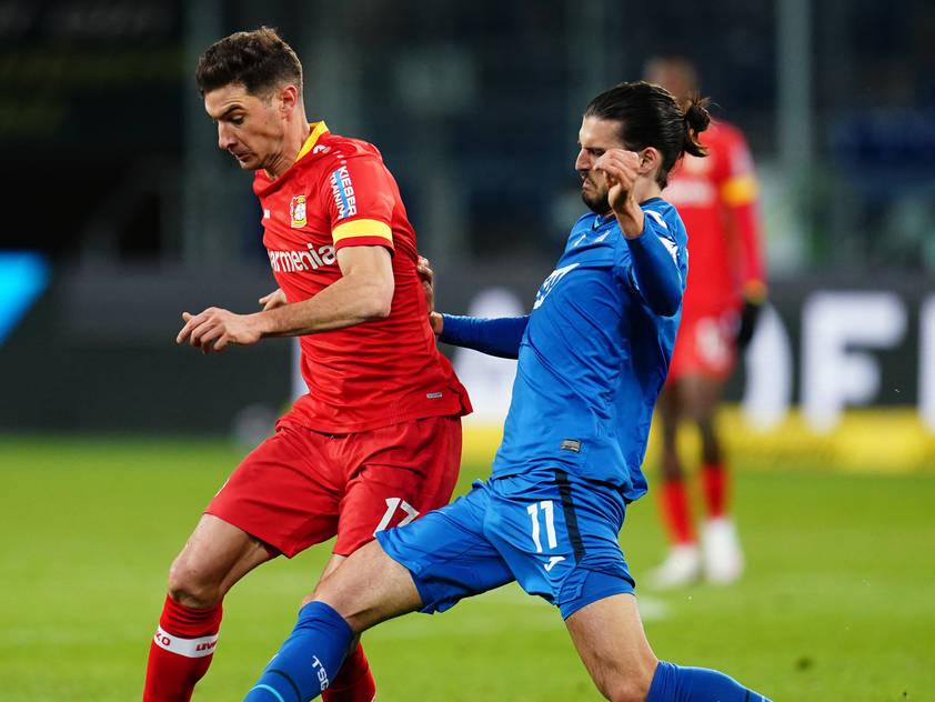 Florian Grillitsch (r.) und Co. erkämpften sich einen Punkt gegen Leverkusen
