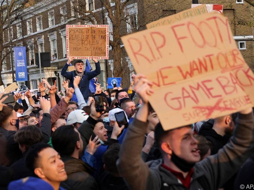 Die Chelsea-Fans protestierten erfolgreich gegen die Super League