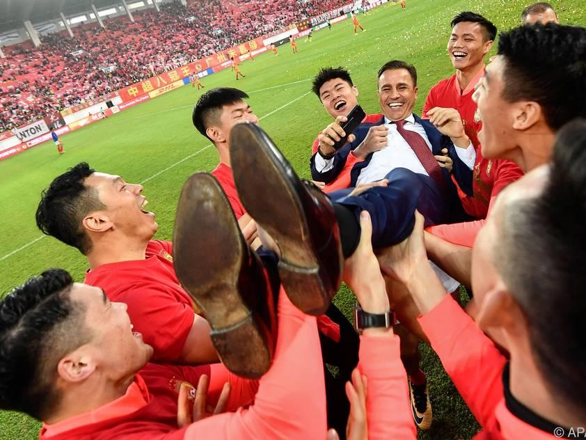 2019 holte Cannavaro mit Guangzhou den Meistertitel
