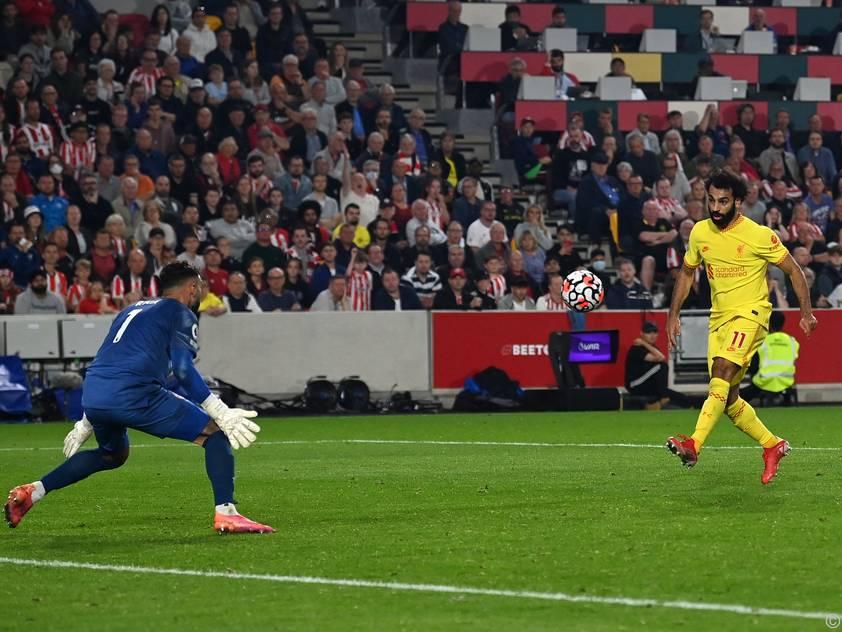 Mohamed Salah war auch gegen Brentford erfolgreich
