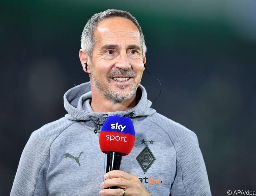 Mönchengladbach-Coach Adi Hütter hatte gut lachen