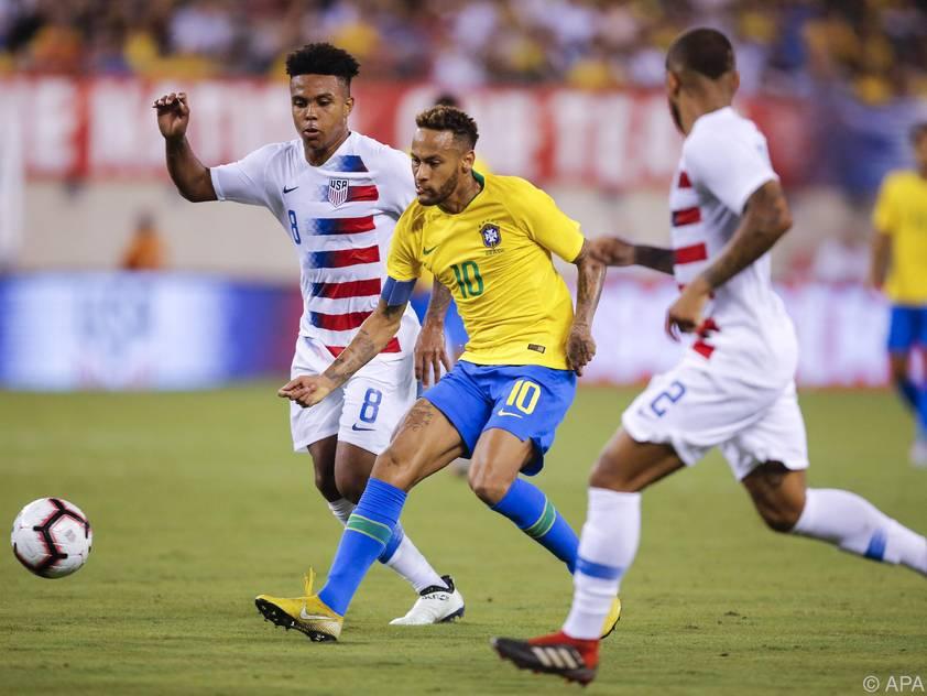 Neymar zeigte in den USA sein Können