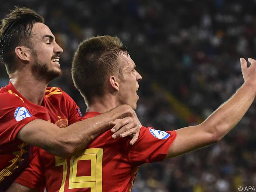 Spanien gewann das Finale gegen Deutschland mit 2:1