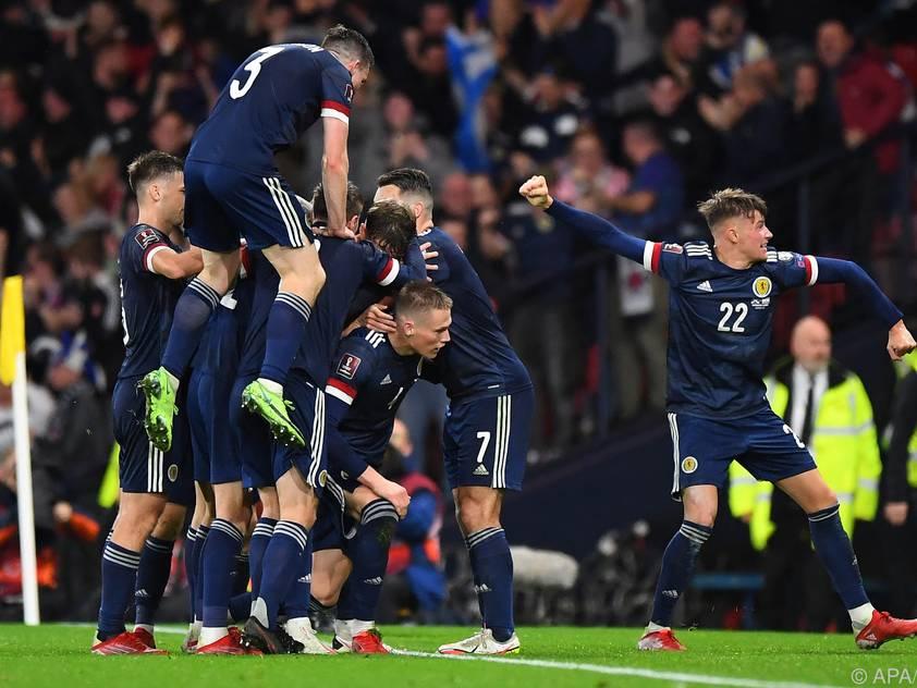 Fußball-Schottland im Freudentaumel