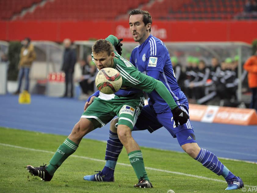 ÖFB-Kapitän Fuchs als Gast im Happel-Stadion