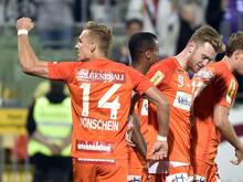 """""""Joker"""" Christoph Monschein traf in der Nachspielzeit noch zum 3:1"""