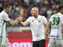 Jubel nach dem Europacup-Erfolg bei Rapid Wien