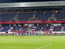 Die Osttribüne des neuen Austria Stadions. Die Schweden waren zuletzt auch da
