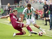 Philipp Erhardt (Mattersburg) gegen Thomas Murg (Rapid)